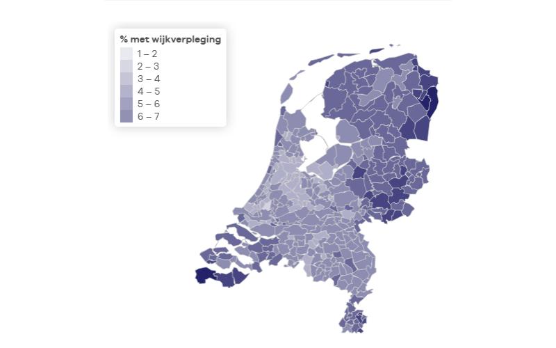 Gebruik wijkverpleging steeg in 2018 met 22 duizend mensen en 200 miljoen euro